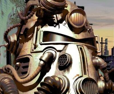Fallout 1 герой на фоне города