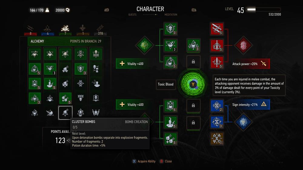 Blood And Wine скриншот интерфейса 1