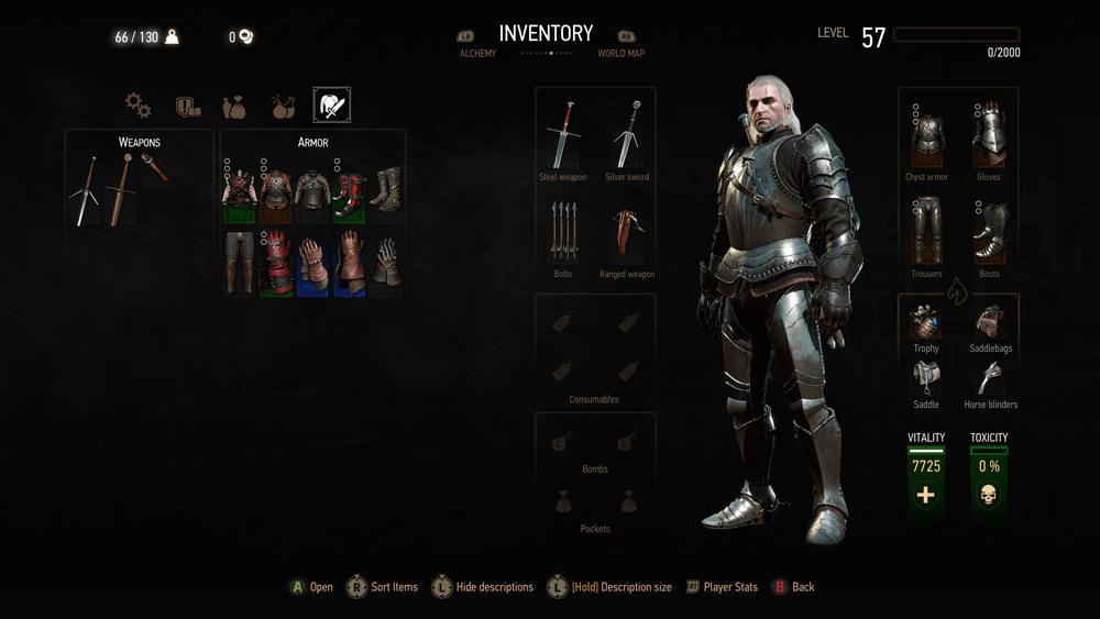 Witcher 3 Blood And Wine скриншот интерфейса 10