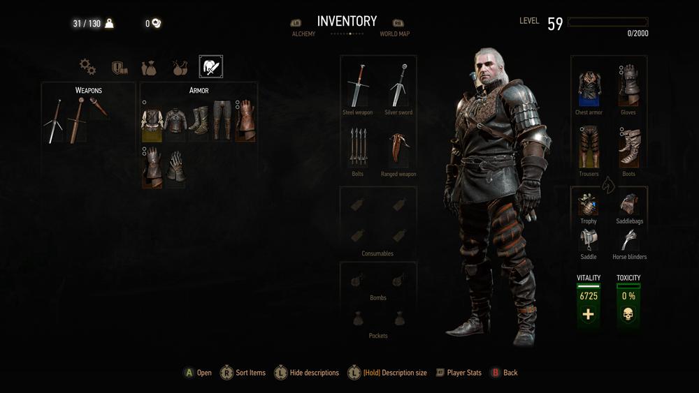 Witcher 3 Blood And Wine скриншот интерфейса 11