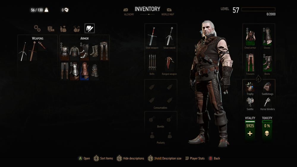 Witcher 3 Blood And Wine скриншот интерфейса 12
