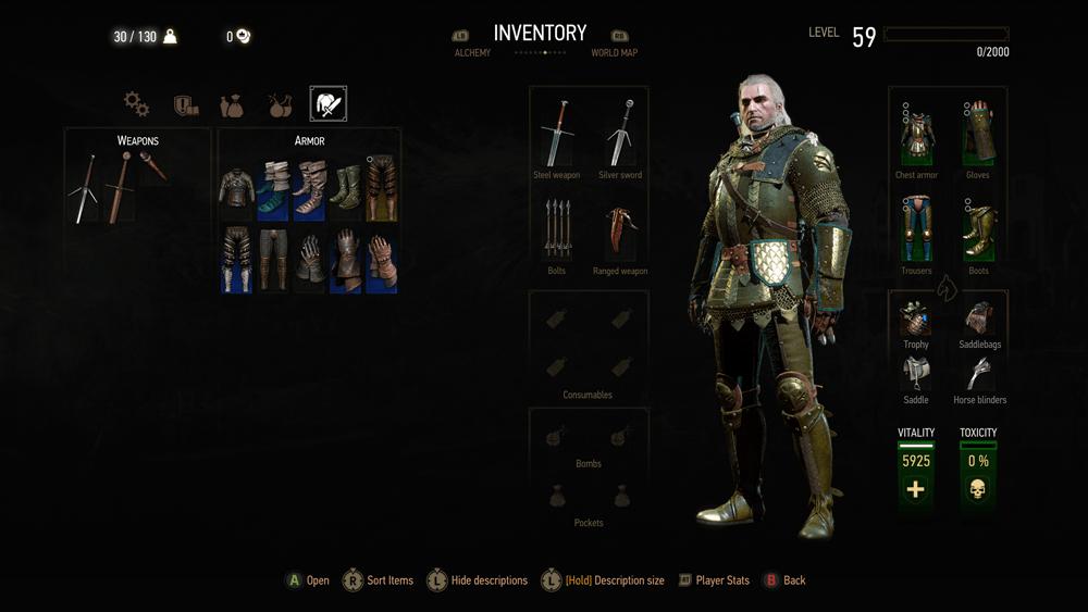 Witcher 3 Blood And Wine скриншот интерфейса 13