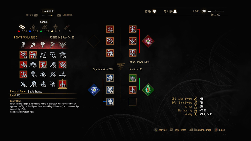 Blood And Wine скриншот интерфейса 2
