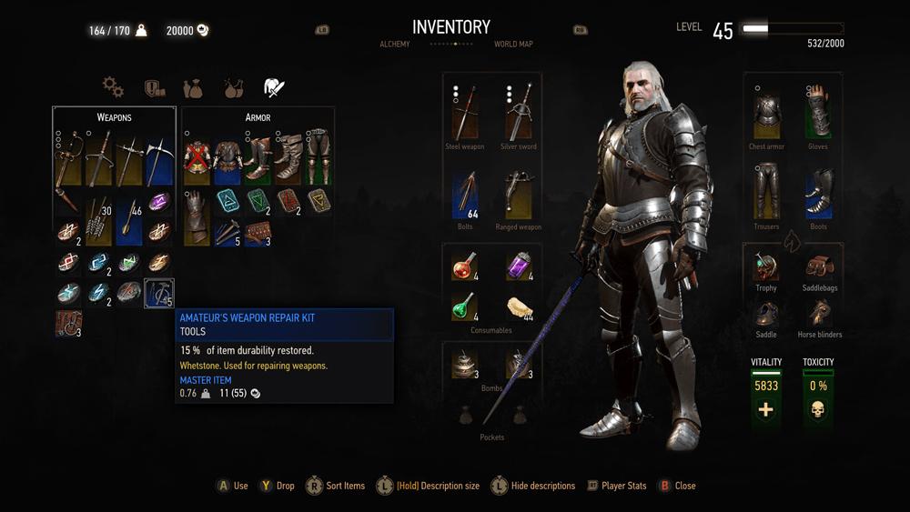 Witcher 3 Blood And Wine скриншот интерфейса 5