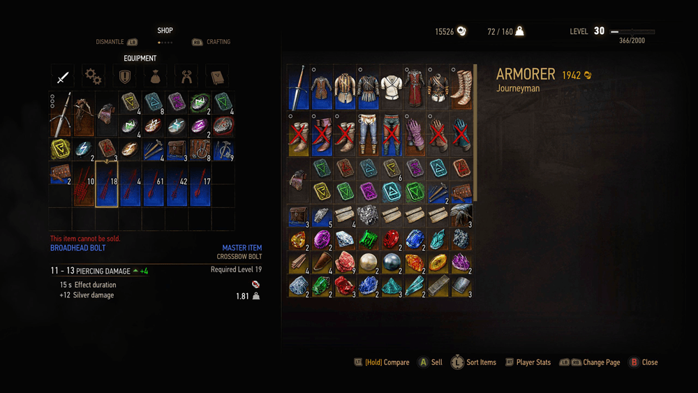 Witcher 3 Blood And Wine скриншот интерфейса 8