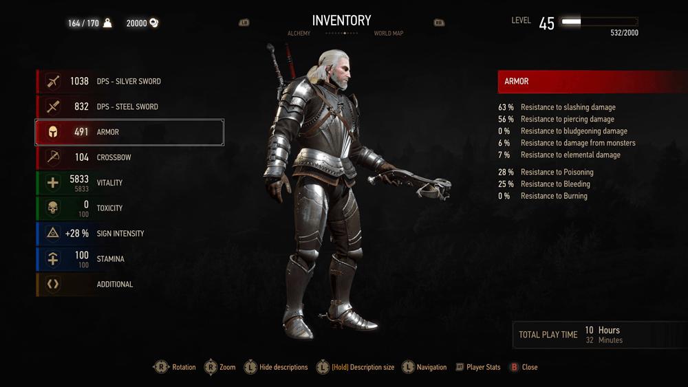 Witcher 3 Blood And Wine скриншот интерфейса 9