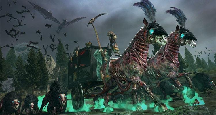 Total War: Warhammer карета нежити