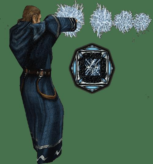 Ледяна глыба из арсенала Магов воды в игре Готика 1