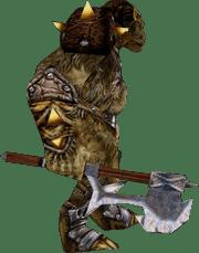 Орк с топором из игры Готика 1