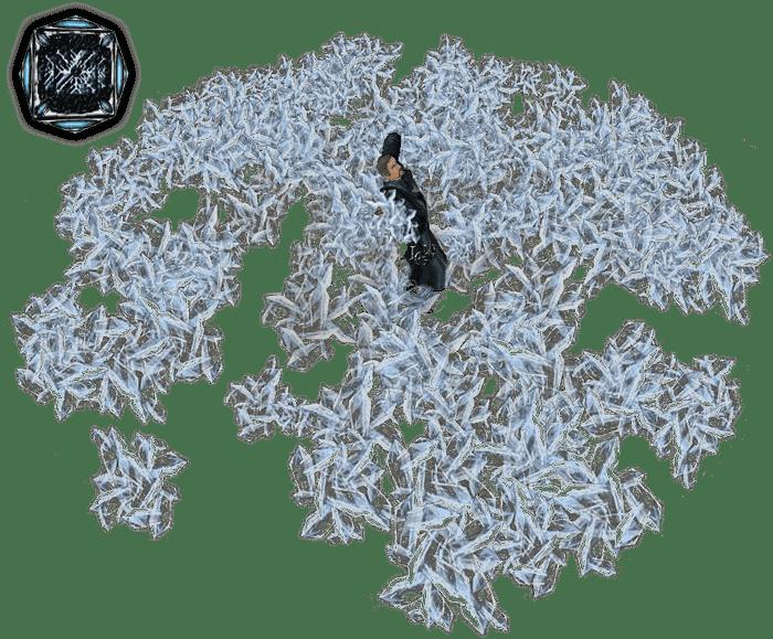 Ледяная волна из арсенала Магов воды в игре Готика 1