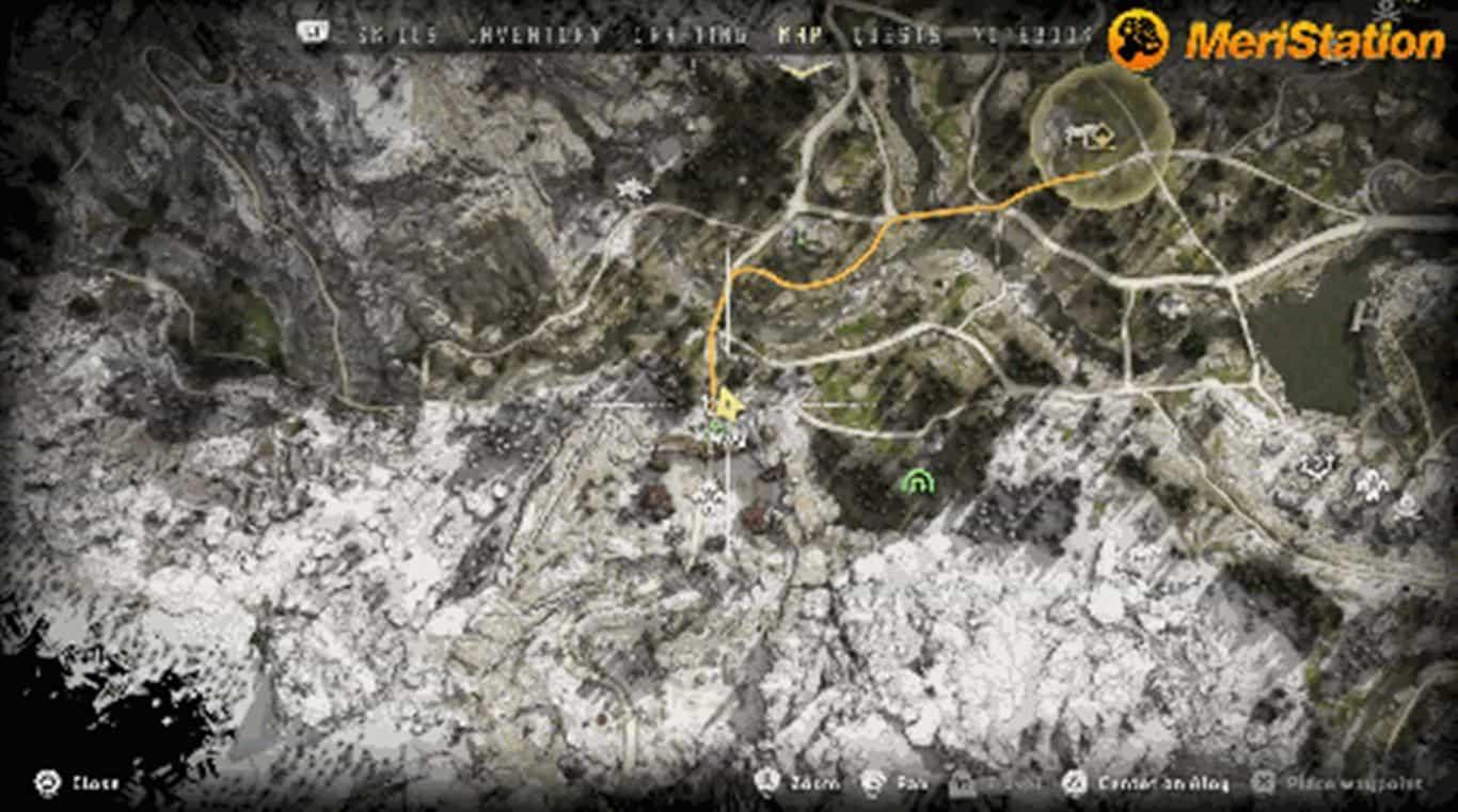Horizon: Zero Dawn большой размер карты - центр
