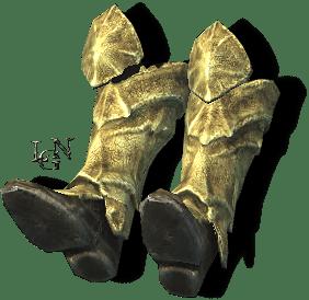 Улучшенные костяные сапоги. Скайрим