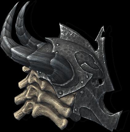 Драконий панцирный шлем. Скайрим