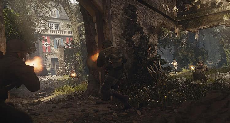 Обстрел дома - Call of Duty WWII