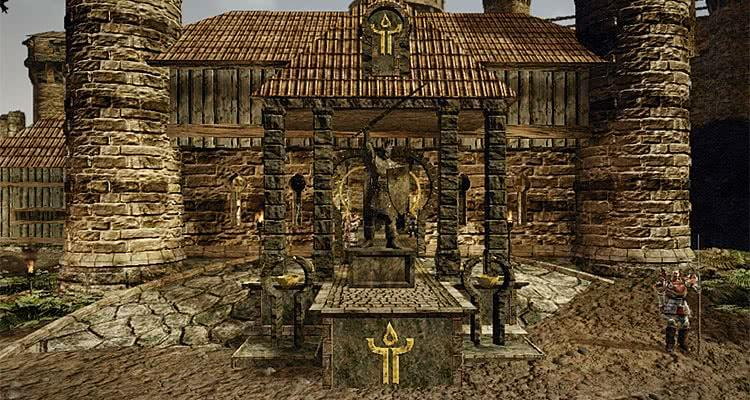 Gothic 3 Forsaken Gods статуя короля