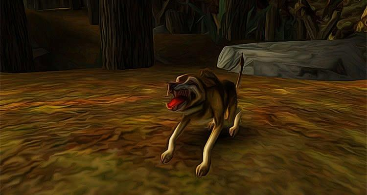 Готика 1 Волк скалит клыки