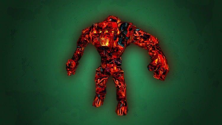 Готика 1 монстры - Огненный голем