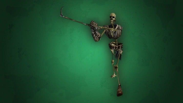 Скелет разведчик наносит удар