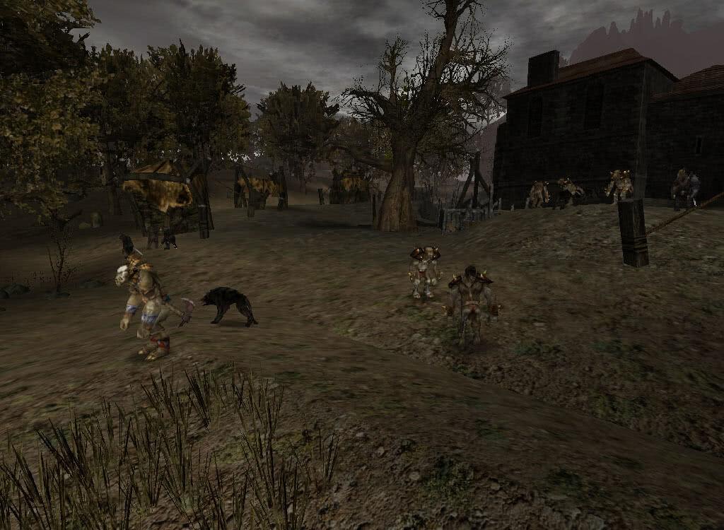 Осаждающие замок орки - игра Готика 2
