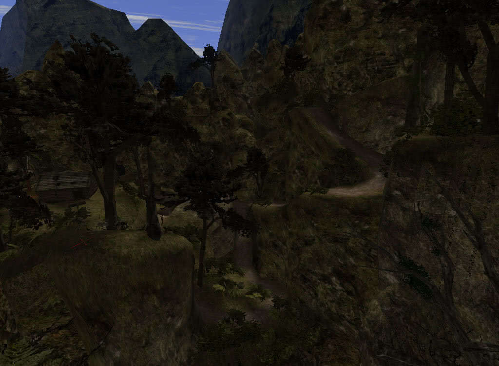 Спуск к хижине Отшельника - игра Готика 2