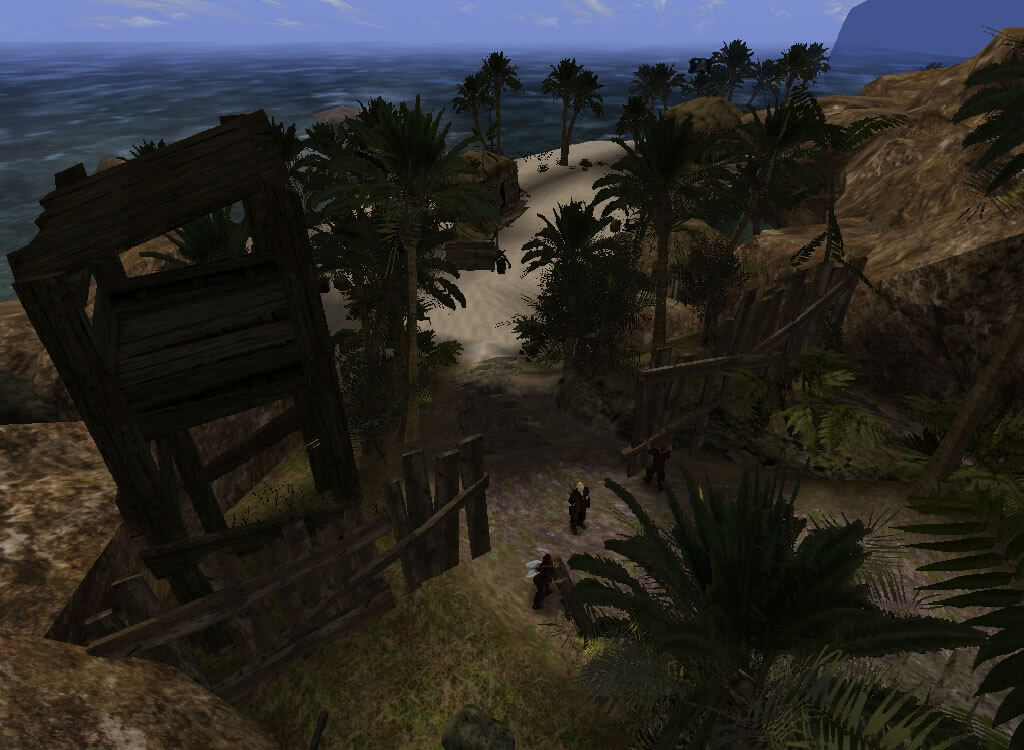 Вход в лагерь Пиратов - игра Готика 2