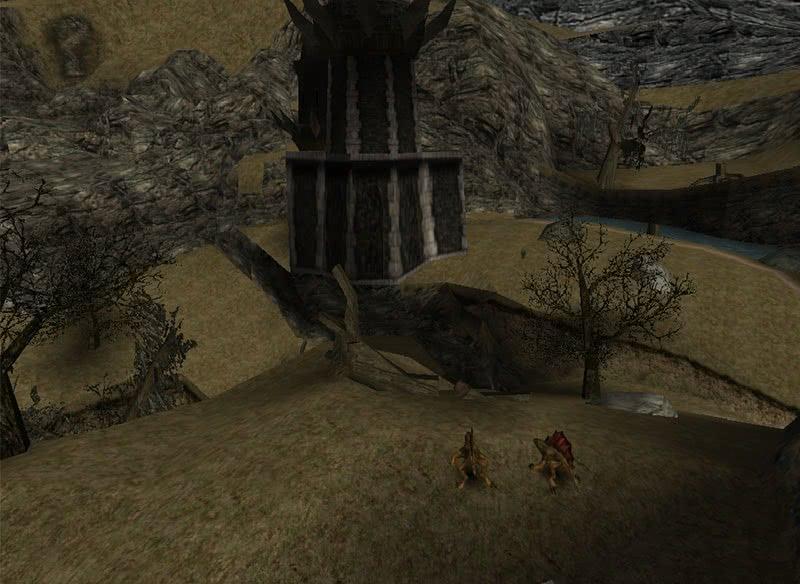 Огненные ящерицы у башни Ксардаса – монстры Готики 1