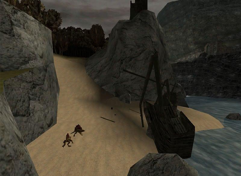 Огненные ящерицы у башни Плащей – монстры Готики 1