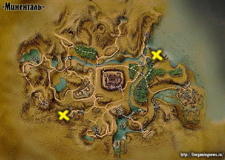 Разведчик скелетов из игры Готика 1 на карте