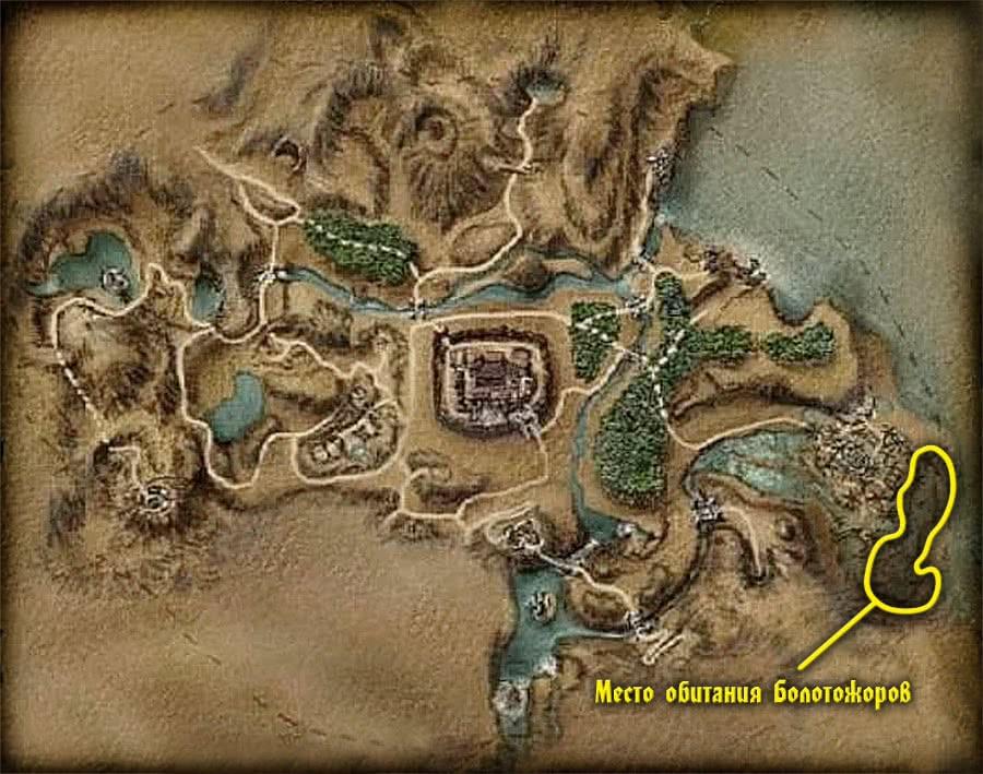 Карта Болотожоров Готики 1