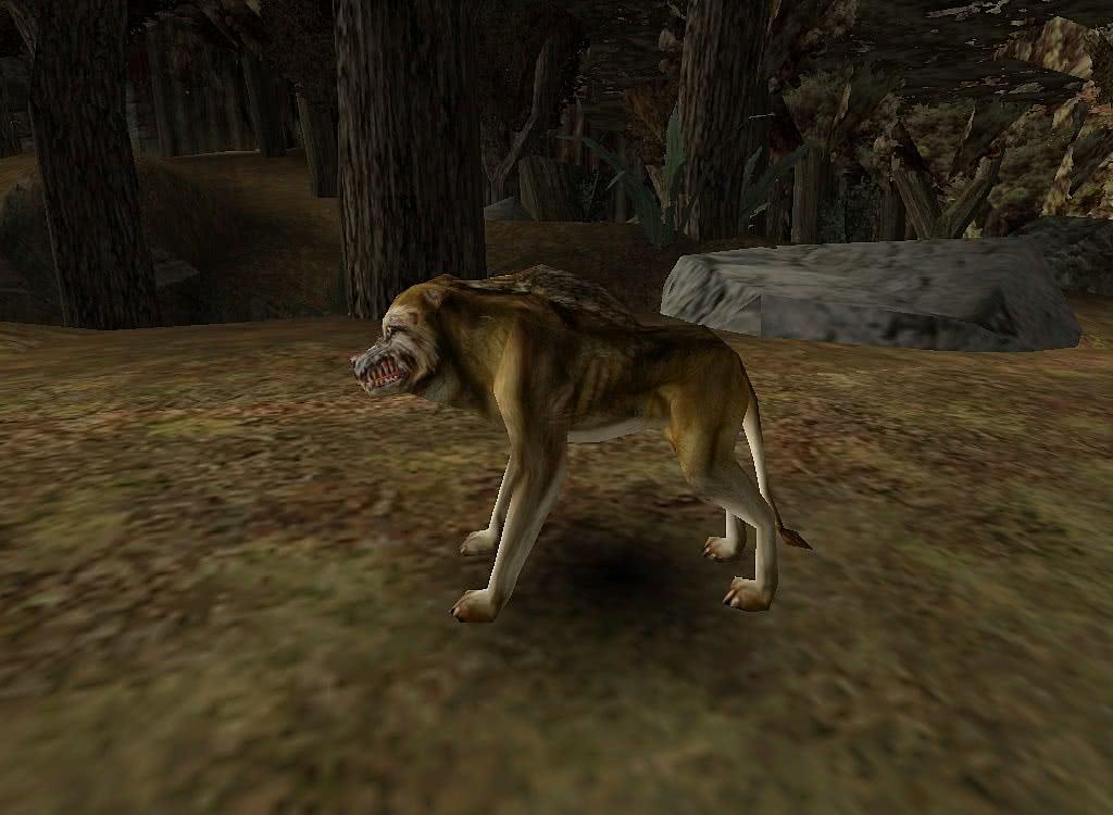 Готика 1 Волк – вид слева