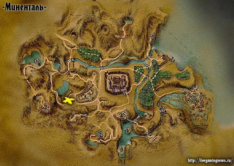 Страж (Готика 1) на карте