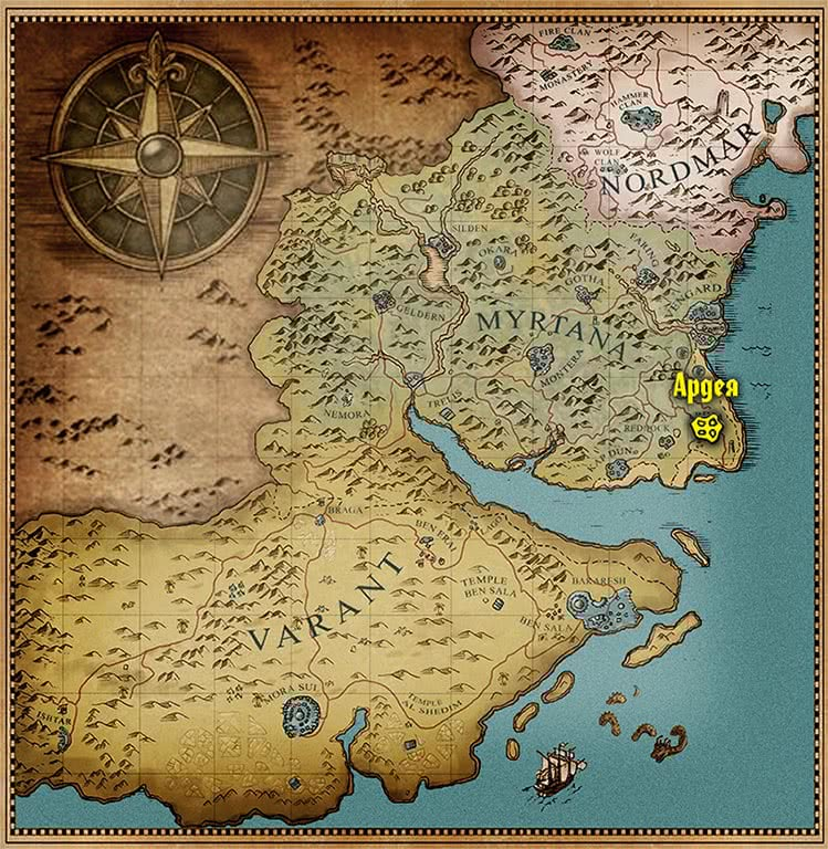 Готика 3 - Ардея на карте