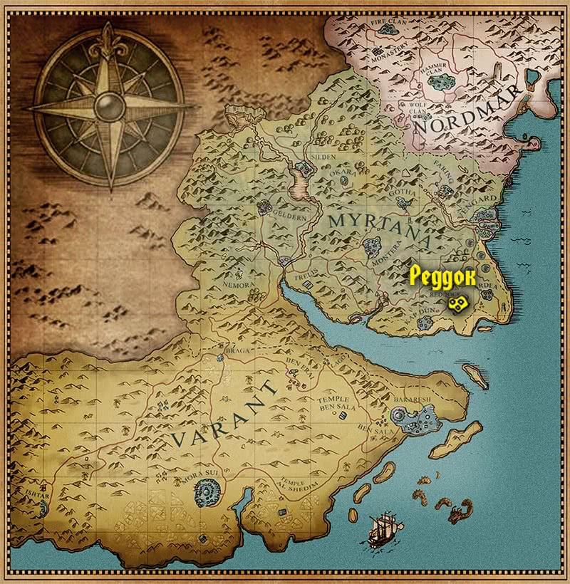 Реддок на карте – Готика 3