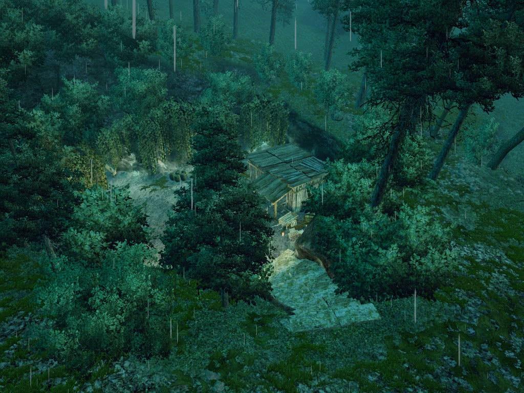 Вход в лагерь повстанцев Реддок