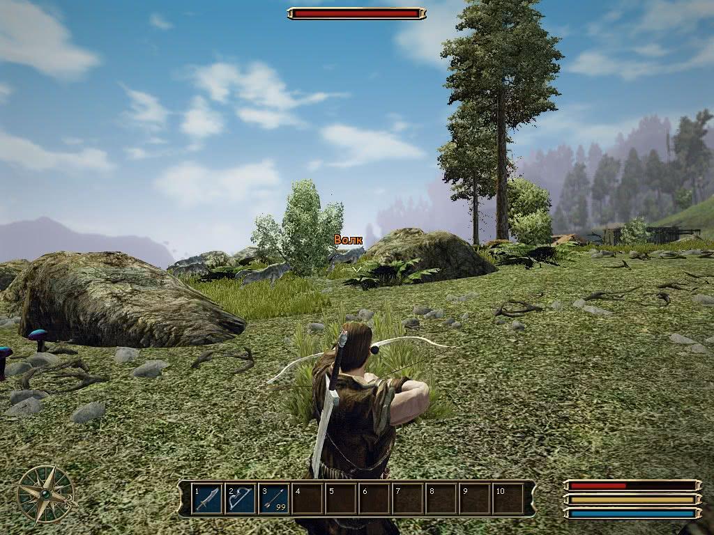 Игра Готика 3 – выстрел из лука