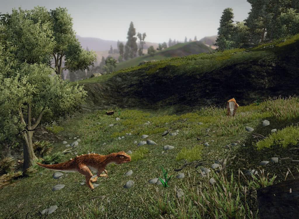 Два динозавра - игра Готика 3
