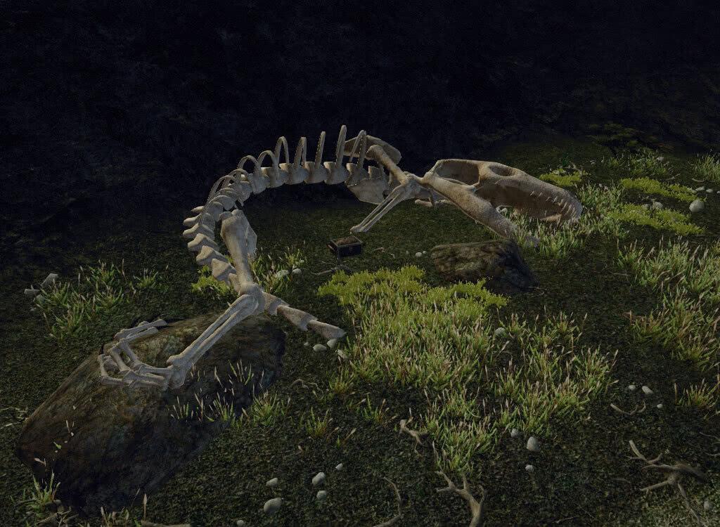 Скелет динозавра - игра Готика 3
