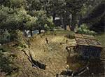 Стоянка бандитов в лесу - игра Готика 3