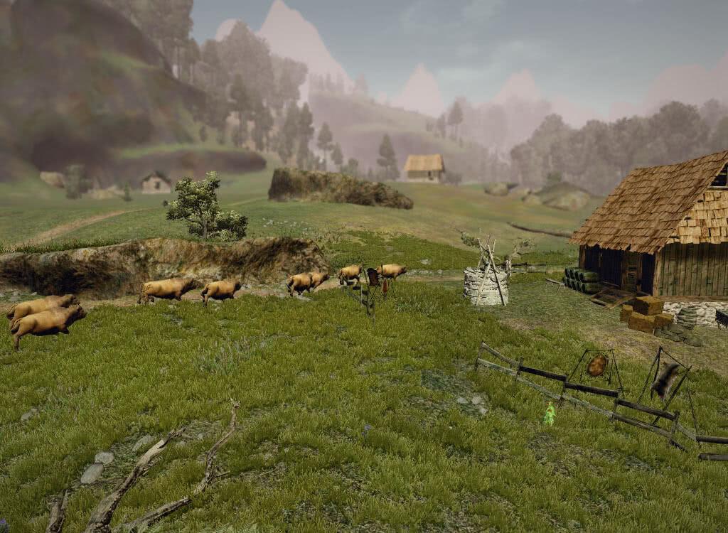 Стая буйволов - игра Готика 3