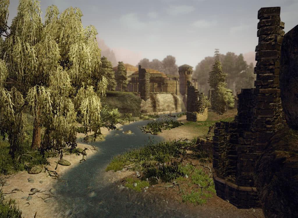 Речушка бегущая к замку - игра Готика 3