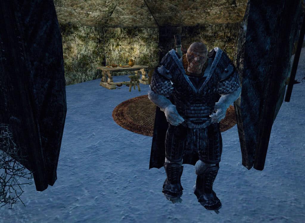 Орк у входа в палатку - игра Готика 3