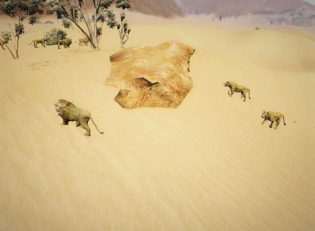 Львы у валуна - игра Готика 3