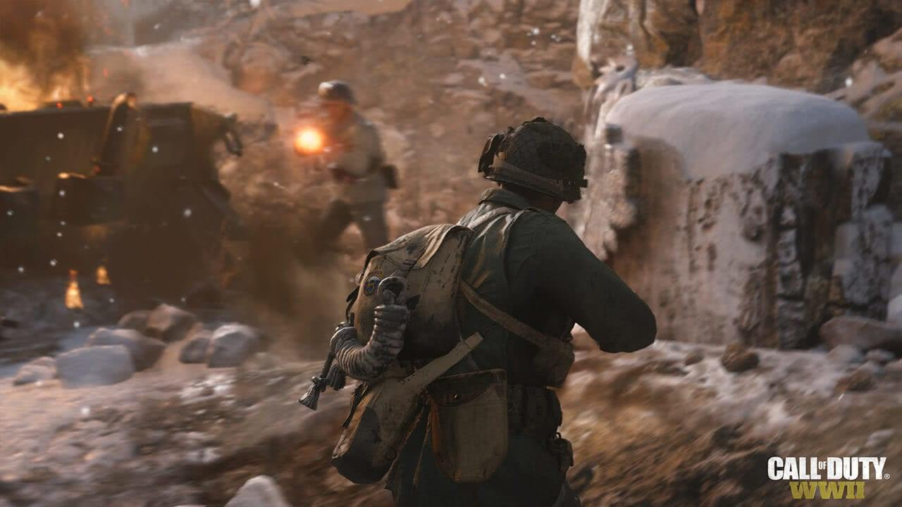 Call of Duty: WWII перестрелка