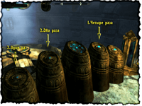 Древний свиток - порядок кнопок