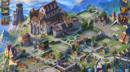 Throne: Kingdom at War – интерфейс города
