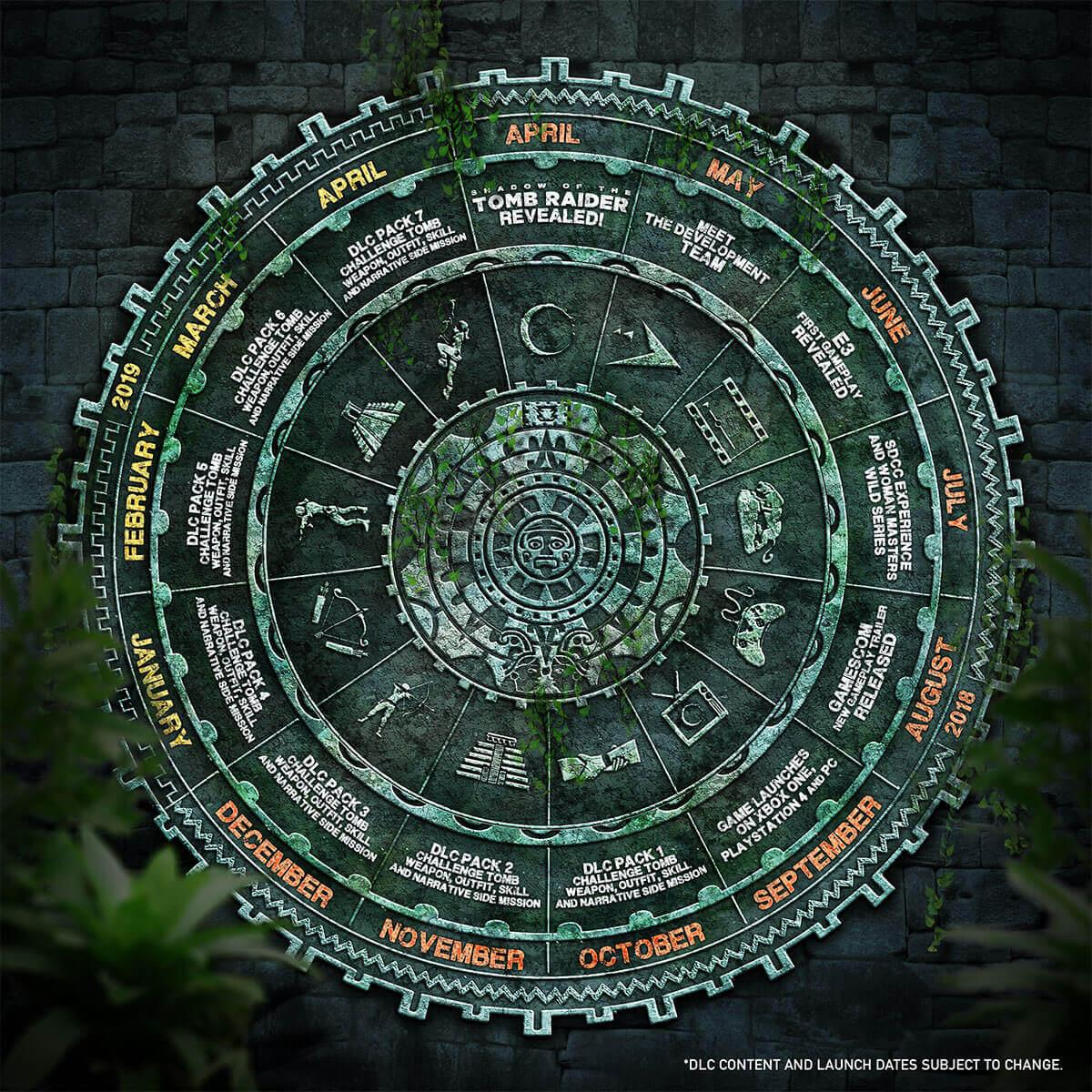 Shadow of the Tomb Raider - календарь предстоящих событий игры
