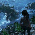 Shadow of the Tomb Raider - Лара Крофт смотрит с обрыва
