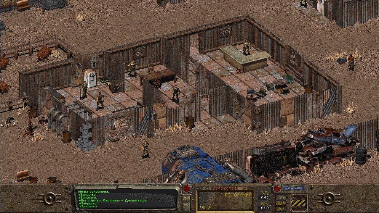 Fallout 1 скриншоты Джанктауна