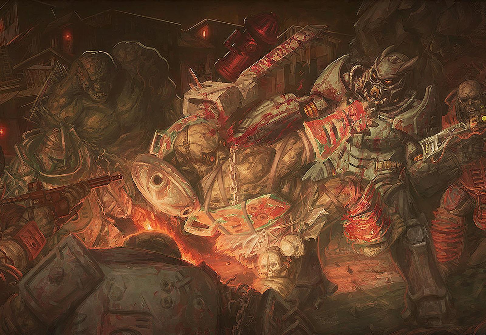 Фаллаут 1 арт - битва с мутантами