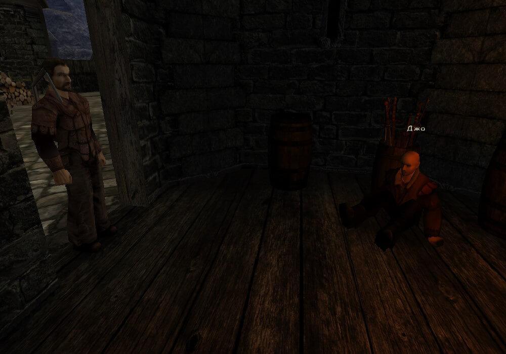 Безымянный находит исчезнувшего Джо в городской башне